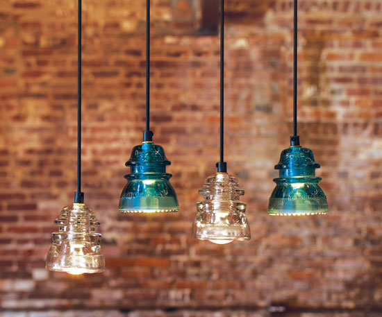 Repurpose roundup lights simplify by sara for Insulator pendant light